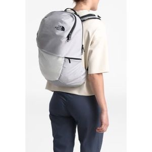 New North Face Aurora Laptop Backpack Light Grey